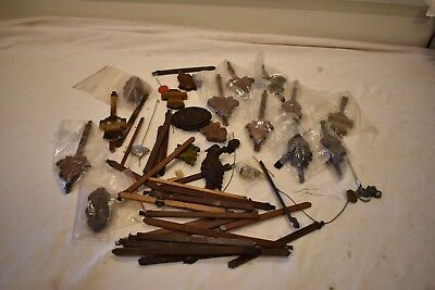 Box Lot 5. Large Group Of Cuckoo Clock Pendulums And Sticks For One Money
