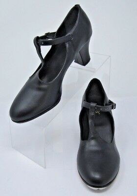 """Leos New York T-Strap Character Shoe with TAPS Style 938  Black  2"""" Heel Nice!"""