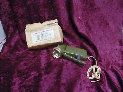 WW2 Army Airforce Hand Generated Daco Lite Flashlight 1944 163-B DAYTON ACME !!