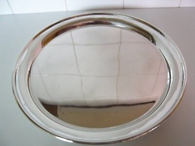 Plain Round Silver Plate Tray