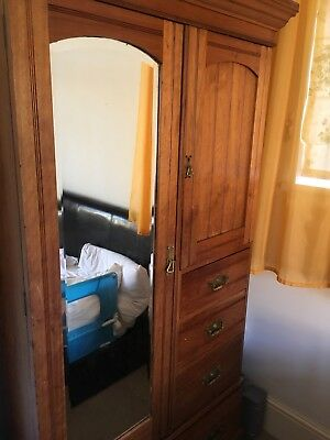 Antique Victorian double wardrobe with Drawers