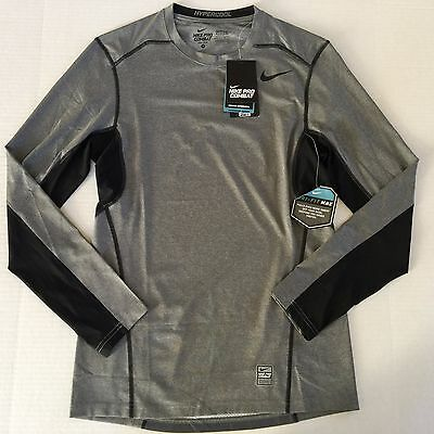 c80bee76 Men's Nike Pro Combat Dri-Fit Max FITTED Hypercool Series Long Sleeve Shirt  Sz S