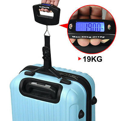 Portable 50KG Digital Handheld Weight Scale LCD Display for Travel Luggage