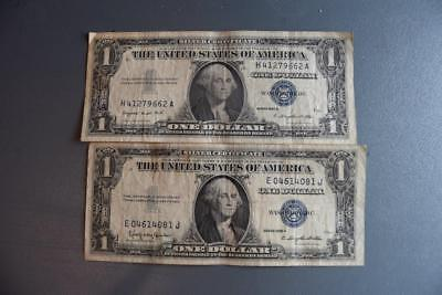 2 (Two) United States $1 Silver Certificates