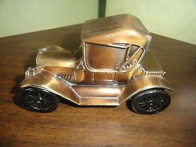 1915 Chevy Roadster Car Coin Bank In Original Box By Banthrico For Bell Savings