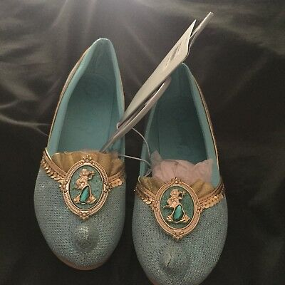 Disney Store Princess Jasmine Aladdin Costume Shoes Sz. 13/1 NWT. Free Shipping