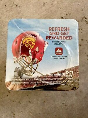 "COORS LIGHT BEER COASTERS USC You Receive ""25"" Coasters   ..Southern Cal .."