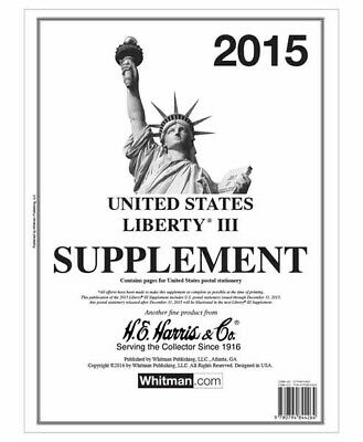 HE Harris Stamp Album Supplement Liberty III 3 Issue 2015 New Pack Pages