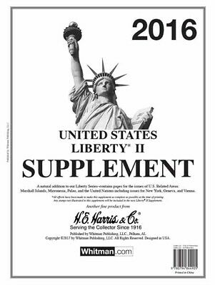 HE Harris Stamp Album Supplement Liberty II 2 2016 Issues New Pack Free Shipping