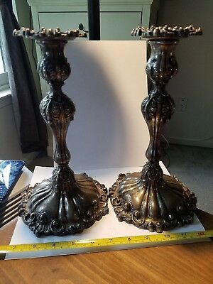 Black Starr & Frost Sterling Silver Candlesticks