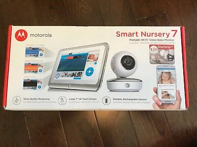 NEW Motorola Smart Nursery 7 Portable Wi-Fi Video Baby Monitor MBP877CNCT