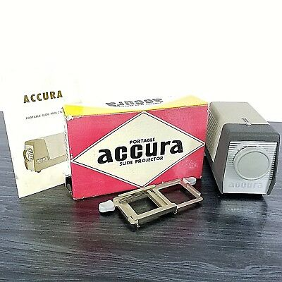 Vintage Accura Portable Slide Projector With Working Bulb