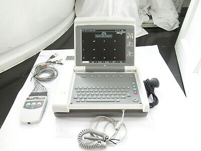 Ge Marquette Mac 5500 Ecg Machine Resting Wireless Patient Monitor Leads Printer
