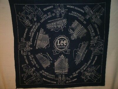 Vintage Lee Union made Bandana/ Handkerchief 1950's from a retired RR worker VGC
