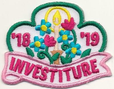 Girl INVESTITURE '18-'19 2018-2019 Ceremony Fun Patches Crest Badge SCOUTS GUIDE