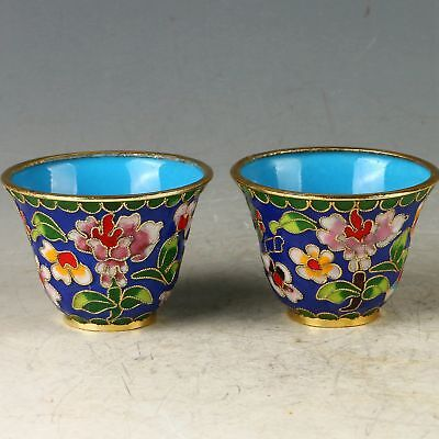 Chinese Cloisonne Handwork Carved Flower Cup CC0838