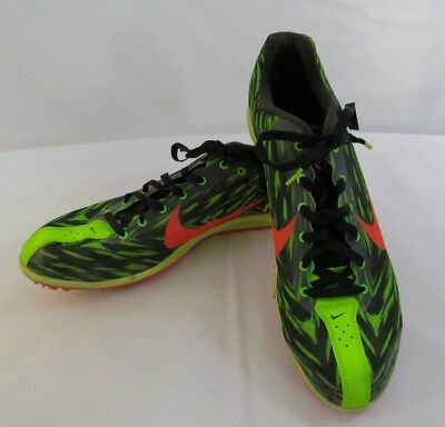 new style 01974 4fe8f Mens Nike Zoom Rival D 8 Lime Green Black Sz 8.5 Mid Distance Track Spikes  EUC