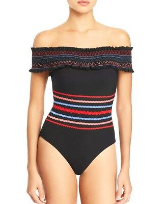 Red Carter Women/'s in Stitches Smocked Bandeau Top RCIS318333 Multi Large NWT