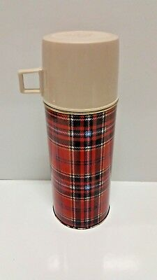 VINTAGE 80's SUNFLOWER OLD STOCK Camper Travel Coffee Thermos Flask-Red
