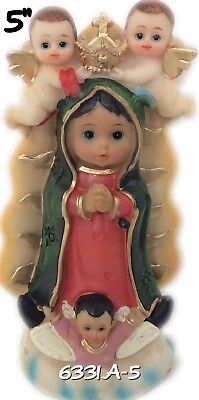 """Our Lady Of Guadalupe Baby face-Virgin Mary Catholic Virgen De Guadalupe New 5"""""""