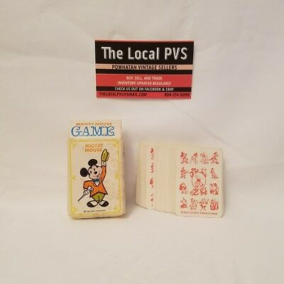 VINTAGE* Walt Disney Mickey Mouse Card Game *ORIGINAL BOX* GREAT CONDITION