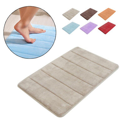 New C Velvet Bath Rug Memory Foam Bathroom Mats Shower Mat Non Slip Carpet