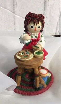 "Enesco Raggedy Ann and Andy Figurine ""HAPPINESS IS HOMEMADE"" Christmas"
