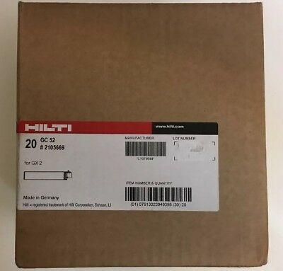 HILTI 20 Pc. Case GC 52 # 2105669 Gas can GC 52 for GX 2 New HILTI. Exp. 6/2020