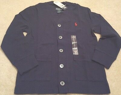 Boys NWT RALPH LAUREN Button Front Cardigan size 8