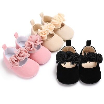 Toddler Newborn Baby Girl Soft Sole Crib Shoes Anti-slip Prewalker Sneakers US