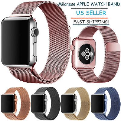 Stainless Steel Milanese Loop Magnetic Watch Band for Apple Watch 38/40 42/44mm