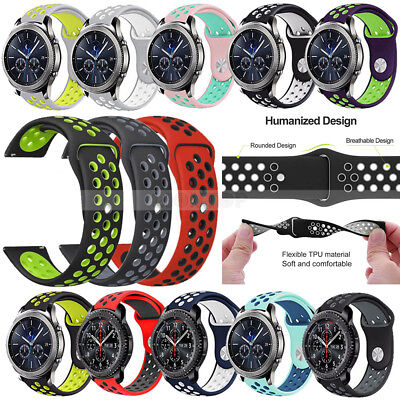 20mm Silicone Watch Band Samsung Gear S2 Classic Gear Sport /Garmin Vivoactive 3