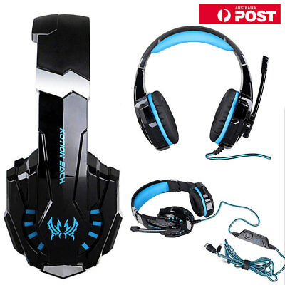 3.5mm Headphone Mic Laptop Gaming Headset for PlayStation PS4 Tablet PC