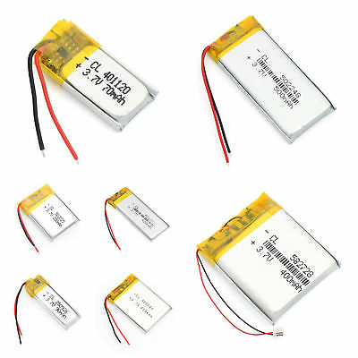 High Quality 3.7V 70~950mAh Rechargeable Battery Cell For Bluetooth GPS MP3 MP4