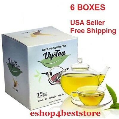 6 box Vy&tea natural herbal tea help weight loss,sleep deep,purifying the body