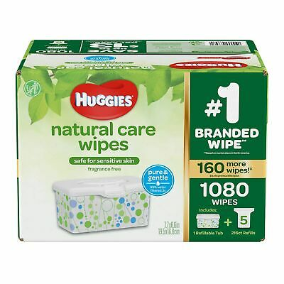 Huggies Natural Care Plus Baby Wipes 1,152-count (soft packs)