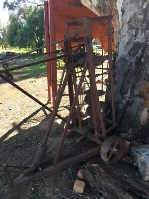old farm machinery/ garden ornament