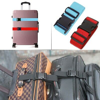Top Quality Luggage Strap Packing Adjustable Travel Suitcase Add a Bag Strap US