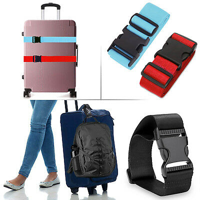 2/4pcs Adjustable Luggage Suitcase Strap Baggage Backpack Bag Travel Bags Belt