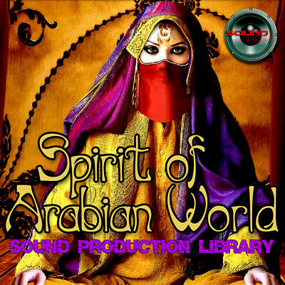 ARABIAN WORLD SPIRIT - Large Original Wave/Kontakt Samples/Loops Library on DVD