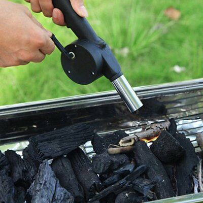 Barbecue Fire Bellows Tools Outdoor Cook BBQ Fire Manual Fan Air Blower AZ