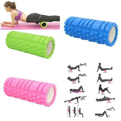 Fitness Foam Roller Exercise Back Muscle Pilates Yoga Training Massage Therapy