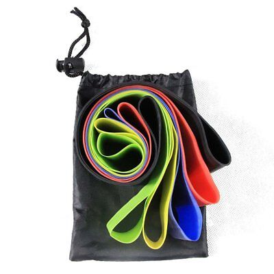 Resistance Bands Set of 5 Exercise Men and Women Legs Arms Booty Yoga Physio AZ