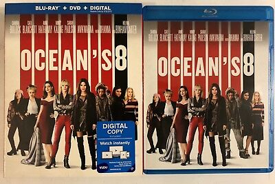 Oceans 8 Blu Ray Dvd 2 Disc Set + Slipcover Sleeve Free World Wdie Shipping Buy