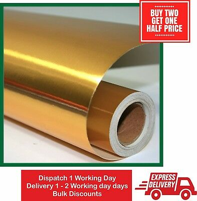 Gift Wrapping Paper Gold  2 x4.5m Rolls