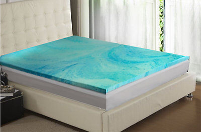 1 Inch Gel Infused Memory Foam Mattress Topper - 4 Sizes Available