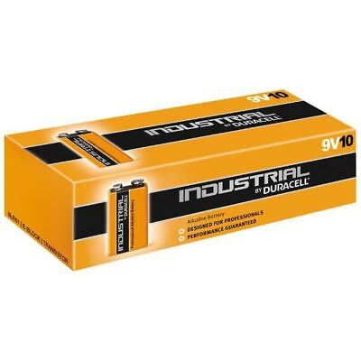 Duracell 5000394082991 Industrial Alkaline Battery 6LR61 PP3 9V (Box of 10)