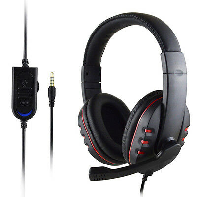 3.5mm Gaming Headset Stereo Surround Headphone Wired w/Mic For PS3 PS4 Xbox ONE