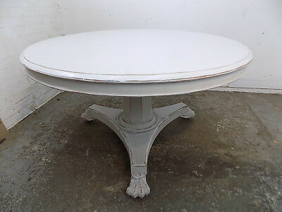 painted,tilt top,mahogany,dining table,castors,antique,victorian,large,round