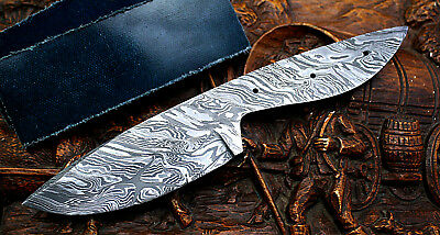 Usa Pkb-133 Damascus Steel Custom Blank Blade For Knife Making With Scales